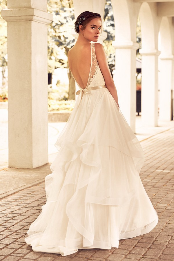 Back of 4783 Wedding Dress from the Paloma Blanca Spring 2018 Bridal Collection