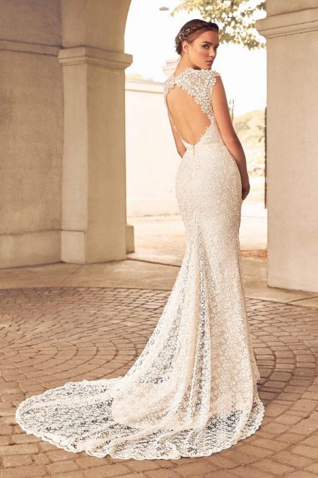Back of 4784 Wedding Dress from the Paloma Blanca Spring 2018 Bridal Collection