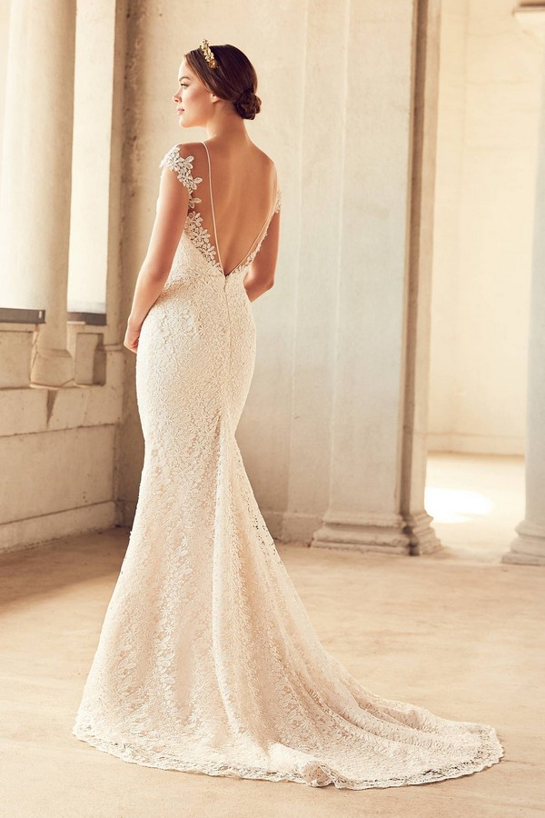 Back of 4786 Wedding Dress from the Paloma Blanca Spring 2018 Bridal Collection