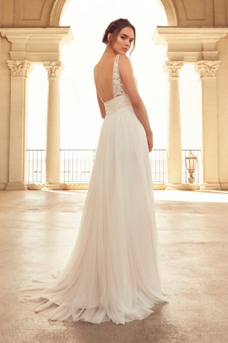 Back of 4788 Wedding Dress from the Paloma Blanca Spring 2018 Bridal Collection