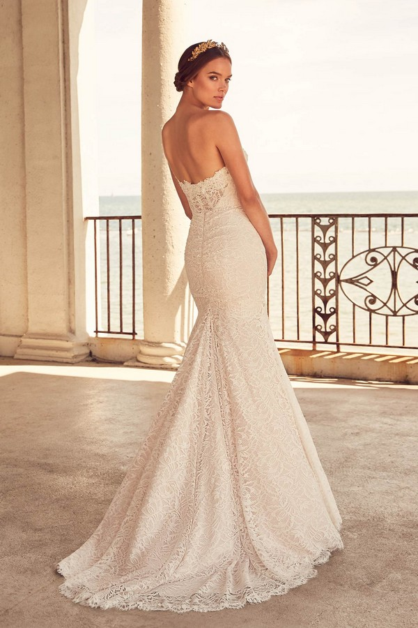 Back of 4794 Wedding Dress from the Paloma Blanca Spring 2018 Bridal Collection