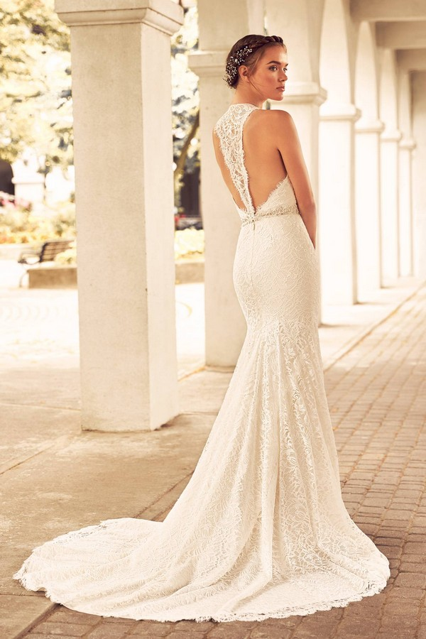 Back of 4795 Wedding Dress from the Paloma Blanca Spring 2018 Bridal Collection