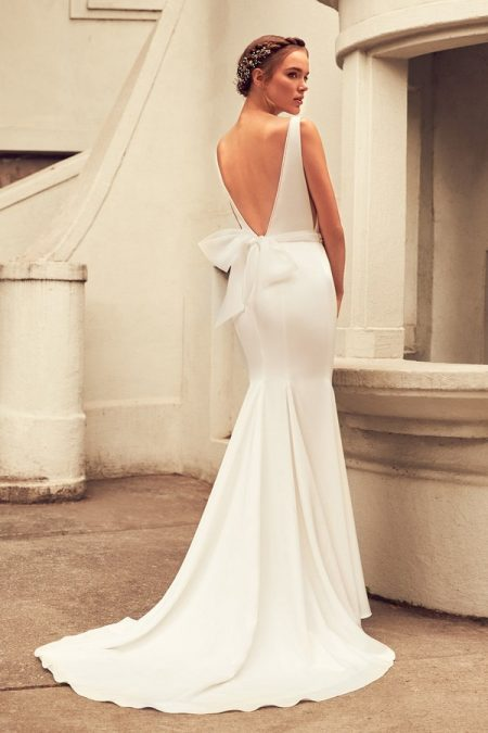 Back of 4796 Wedding Dress from the Paloma Blanca Spring 2018 Bridal Collection