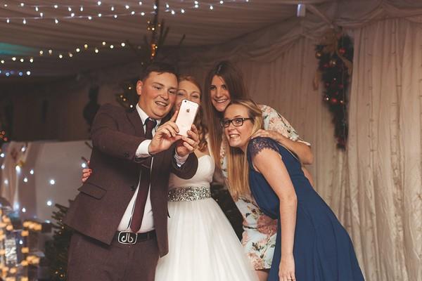 Wedding group selfie