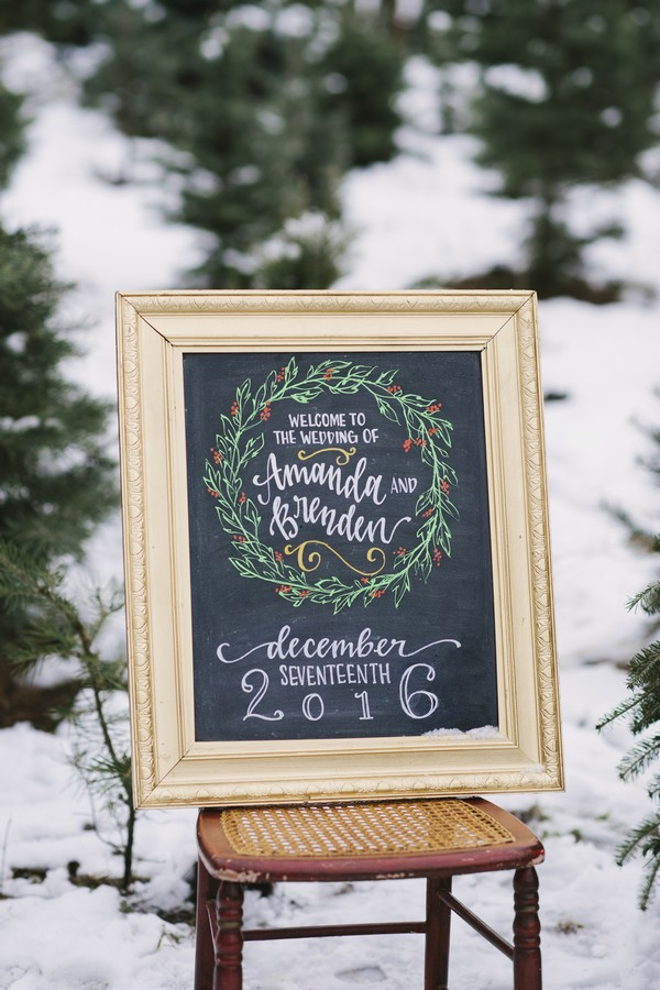 Winter wedding sign