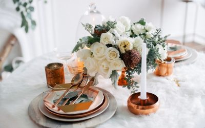 Winter White and Copper Wedding Styling