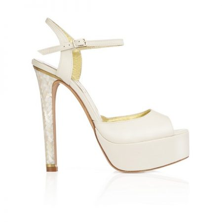 Side of Angel Freya Rose bridal shoe for 2018