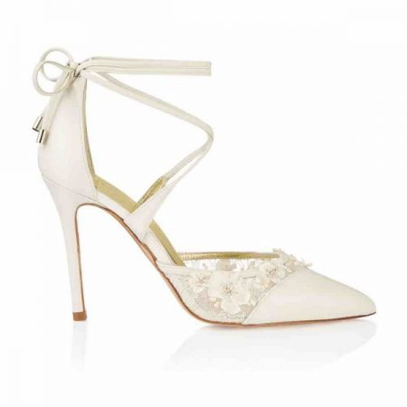 Side of Besina Bloom Freya Rose bridal shoe for 2018