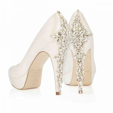Heel of Catherine Freya Rose bridal shoes for 2018