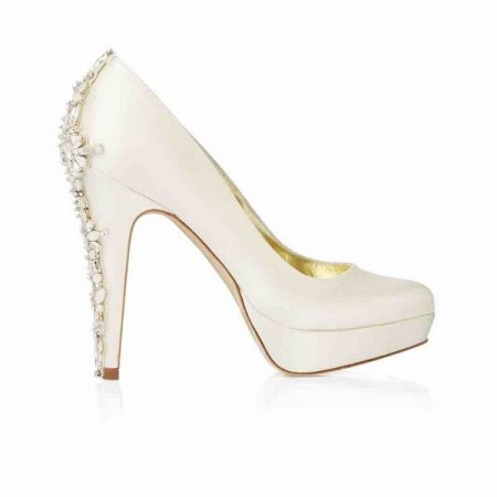 Side of Catherine Freya Rose bridal shoe for 2018