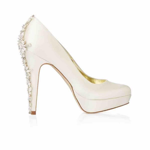 Side of Catherine Freya Rose bridal shoe for 2018