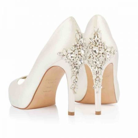 Heel of Elizabeth Freya Rose bridal shoes for 2018