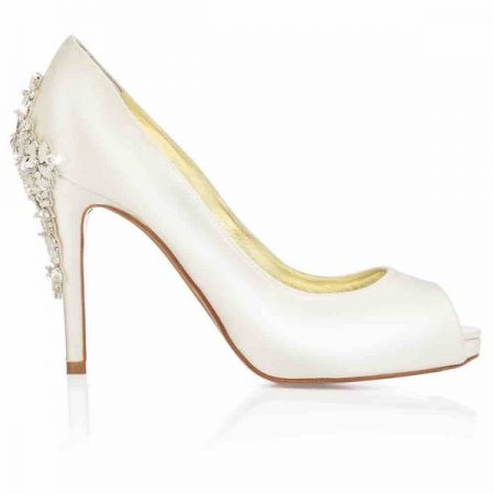 Side of Elizabeth Freya Rose bridal shoe for 2018