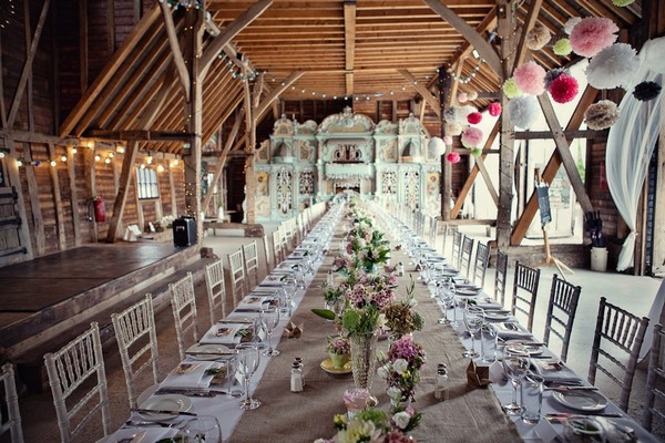 Long Table Styled with Vintage Wedding Flowers