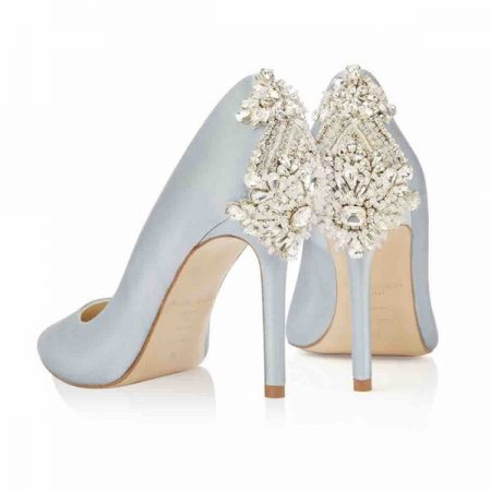 Heel of Lottie Freya Rose bridal shoes for 2018