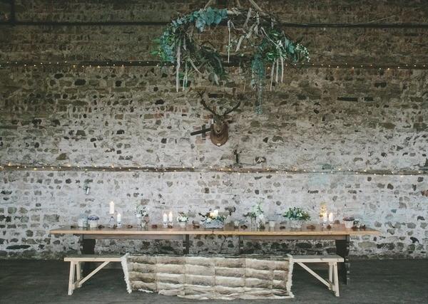 Nordic Christmas Wedding Table Styling
