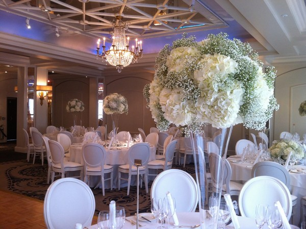 Topiary Display on Wedding Reception Table