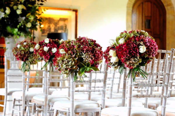 Topiary on Wedding Ceremony Chairs