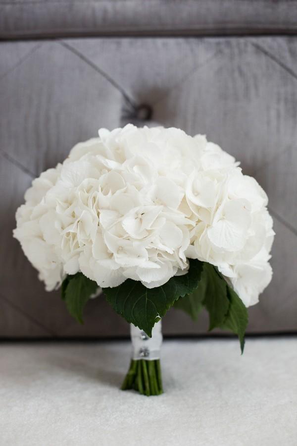 White Hydrangea Winter Wedding Bouquet