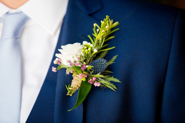Buttonhole with thistle