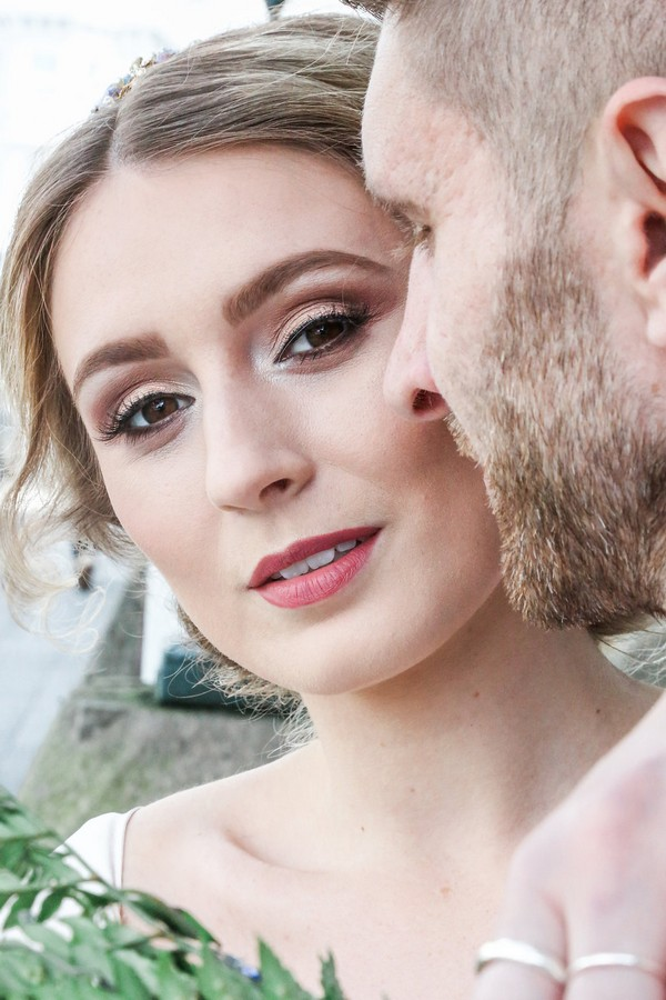 Close-up of bride's make-up
