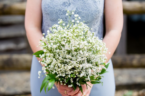 Bridal bouquet of lily of the valley