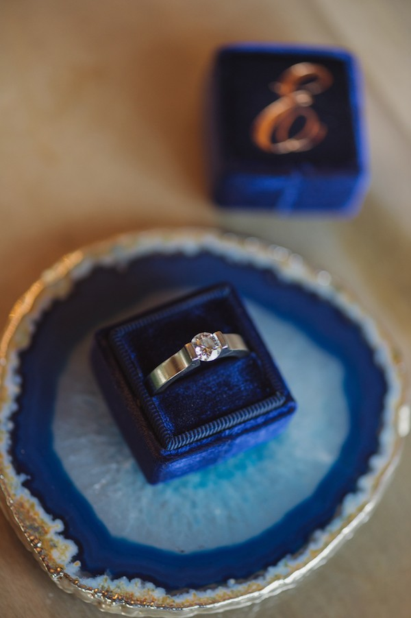 Ring in blue ring box
