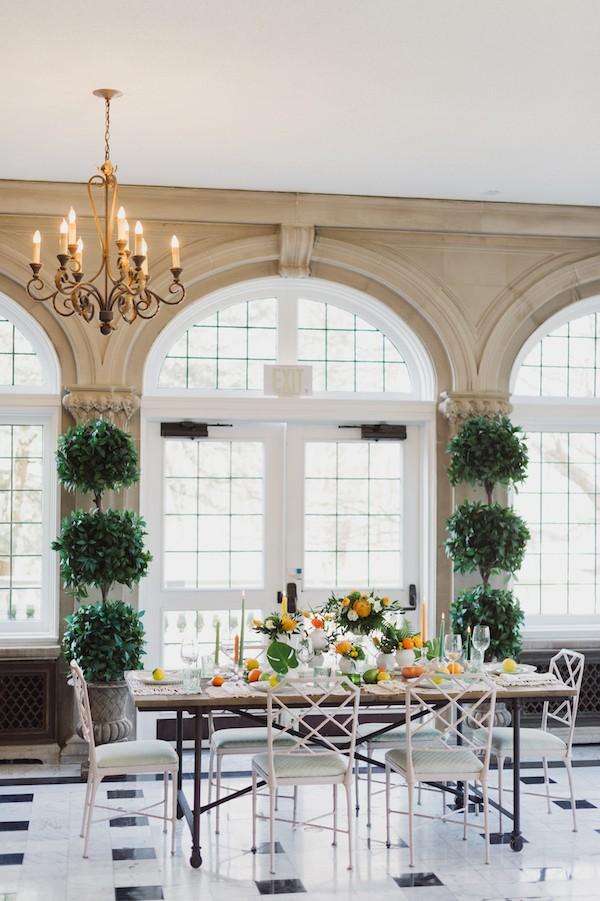 Wedding table in Laurel Hall