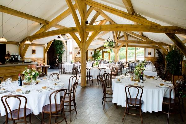 Wedding tables in Cripps Barn