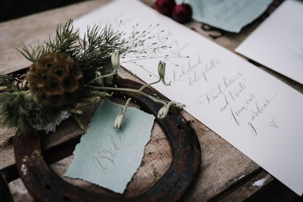 Horseshoe and wedding stationery