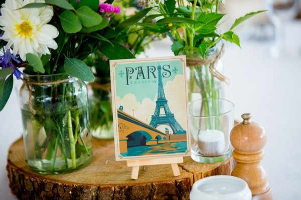 Vintage Paris table name card