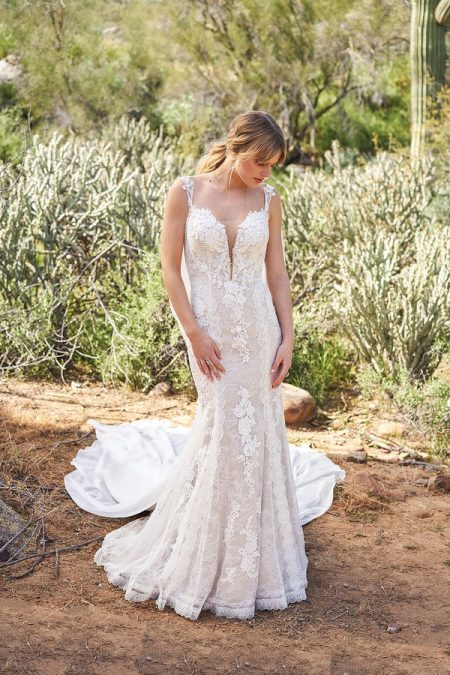 fc271093844 6505 Wedding Dress with Train from the Lillian West Spring/Summer 2018  Bridal Collection