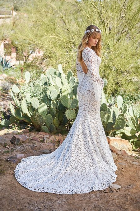 Back of 6509 Wedding Dress from the Lillian West Spring/Summer 2018 Bridal Collection