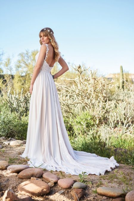 Back of 6510 Wedding Dress from the Lillian West Spring/Summer 2018 Bridal Collection