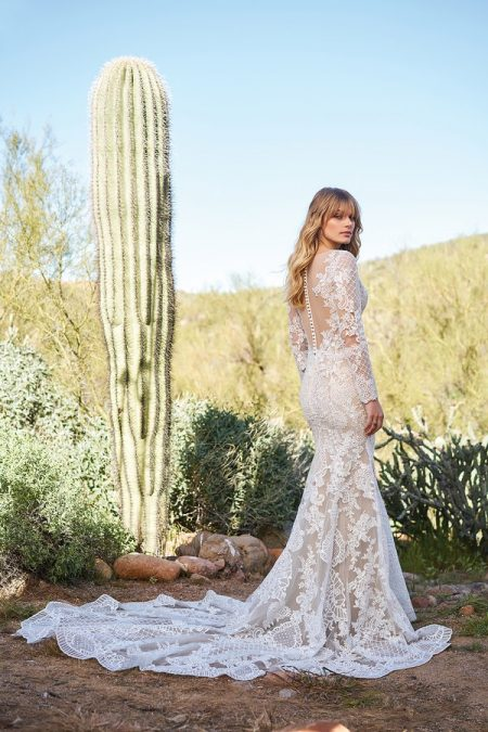 Back of 6511 Wedding Dress from the Lillian West Spring/Summer 2018 Bridal Collection