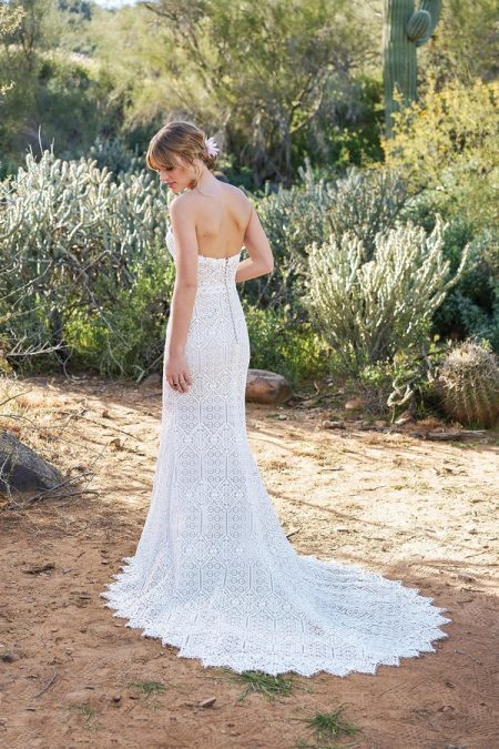 Back of 6513 Wedding Dress from the Lillian West Spring/Summer 2018 Bridal Collection
