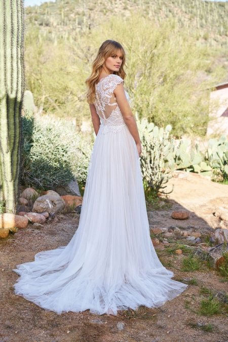 Back of 6514 Wedding Dress from the Lillian West Spring/Summer 2018 Bridal Collection