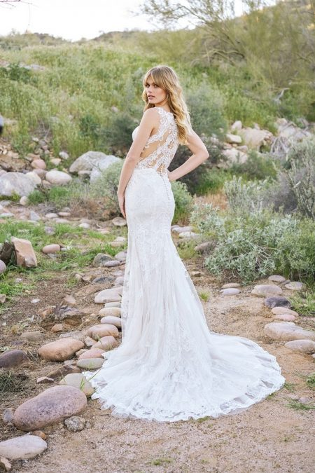 Back of 6521 Wedding Dress from the Lillian West Spring/Summer 2018 Bridal Collection
