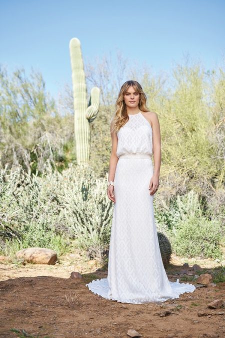 6522 Wedding Dress with Belt from the Lillian West Spring/Summer 2018 Bridal Collection