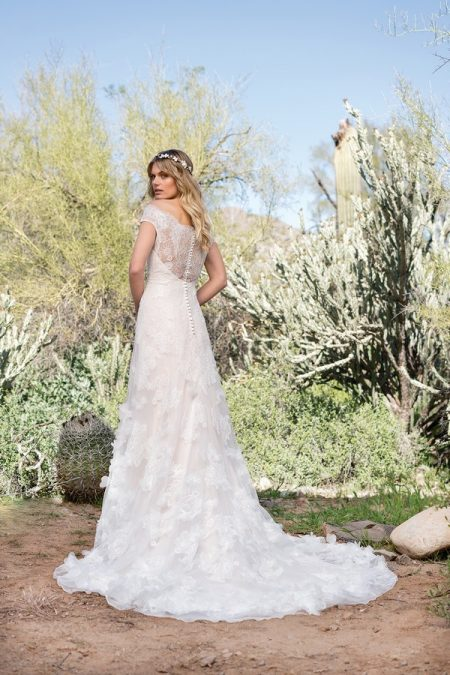 Back of 6527 Wedding Dress from the Lillian West Spring/Summer 2018 Bridal Collection