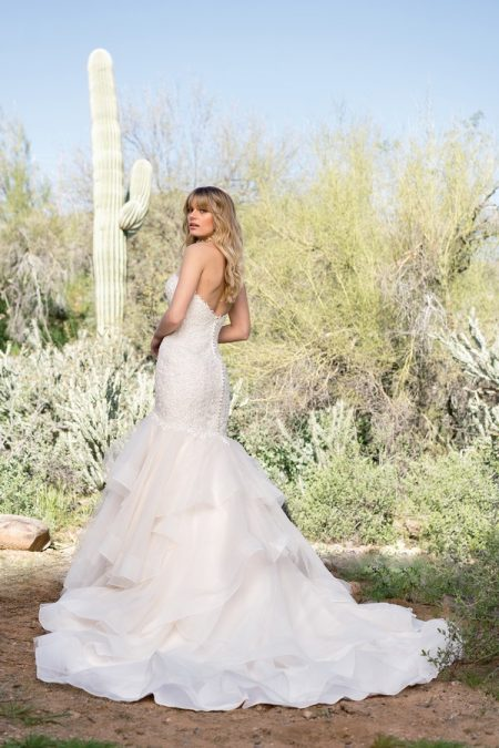 Back of 6528 Wedding Dress from the Lillian West Spring/Summer 2018 Bridal Collection