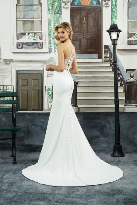 Back of 8940 Wedding Dress from the Justin Alexander Spring/Summer 2018 Bridal Collection