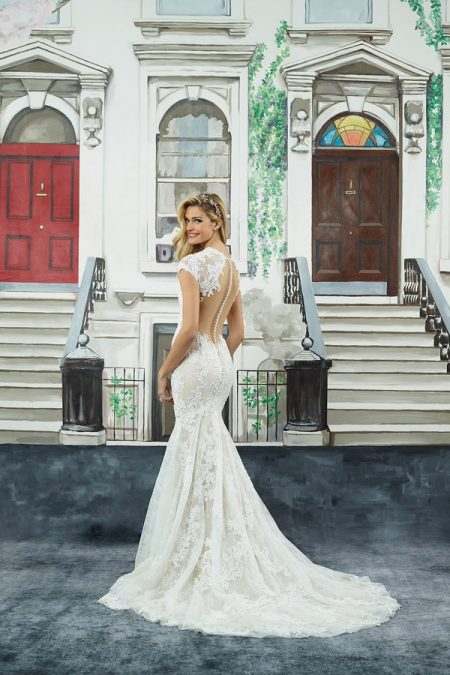 Back of 8962 Wedding Dress from the Justin Alexander Spring/Summer 2018 Bridal Collection