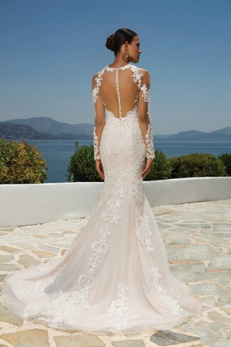 Back of 8964 Wedding Dress from the Justin Alexander Spring/Summer 2018 Bridal Collection