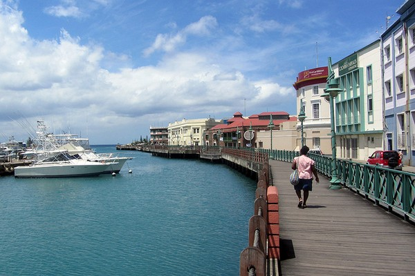 Bridgetown Waterfront, Barbados, Caribbean Honeymoon Destination