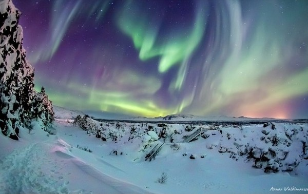 Northern Lights, Thingvellir, Iceland
