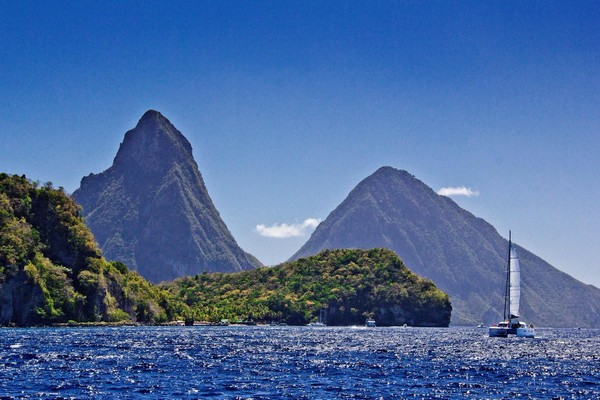 Petit Piton and Gros Piton, St Lucia, Caribbean Honeymoon Destination
