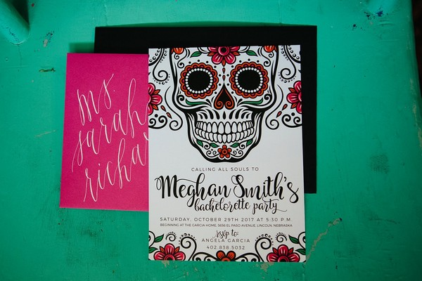 Day of the Dead hen party invitation