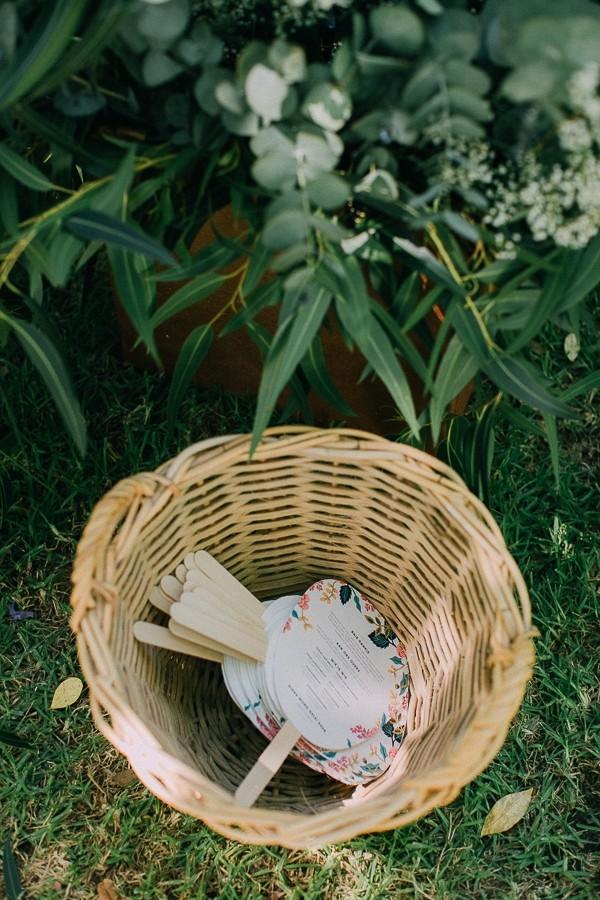 Basket of wedding order of service