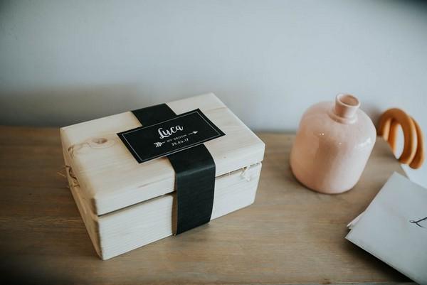 Wooden groom gift box
